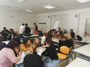 Students at Perugia University, Italy